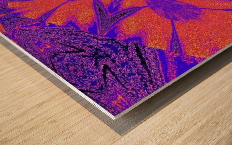 Purple Butterfly In Sunshine 1 Wood print