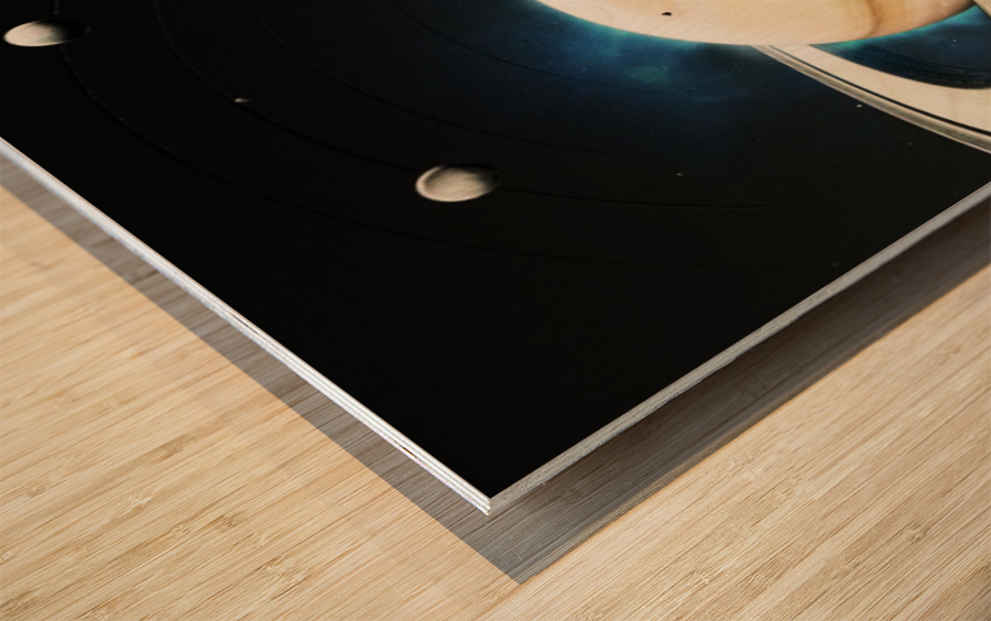 Destination Saturn Wood print