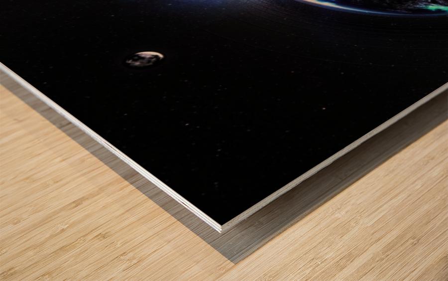 Cosmic Sapphire Wood print