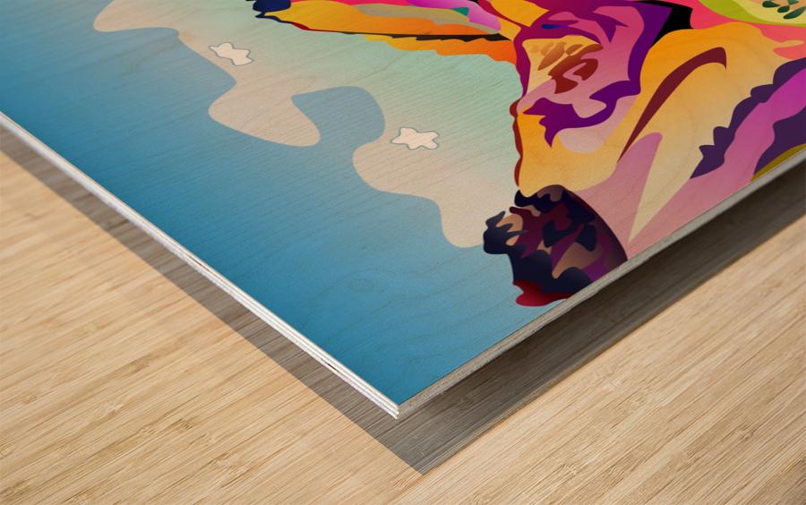 Sybille Range Wood print