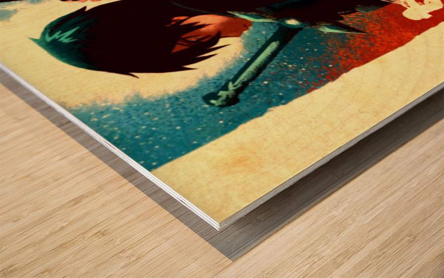Kirito SWORD ART ONLINE Wood print