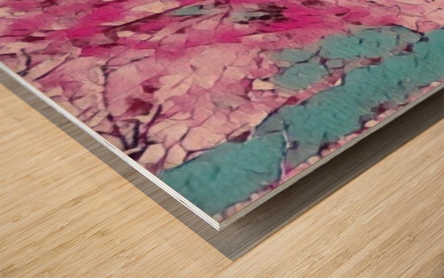 Backyardinsnow p Wood print