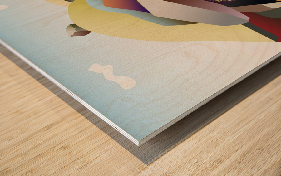 Curt Gowdy Wood print