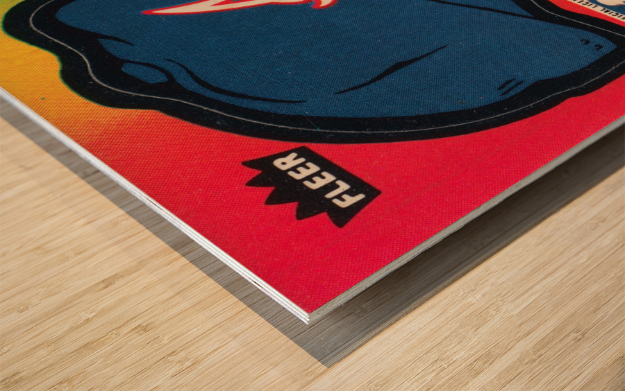 1983 Atlanta Braves Fleer Decal Wood print