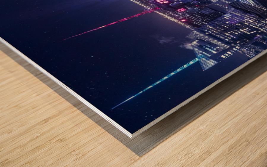 The Grid Wood print