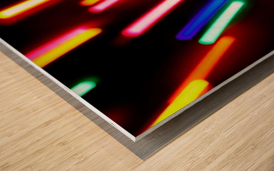 RAINBOW RAIN Wood print