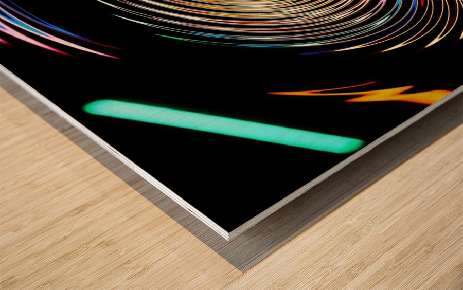 LUMI CIRCLE 001 Wood print