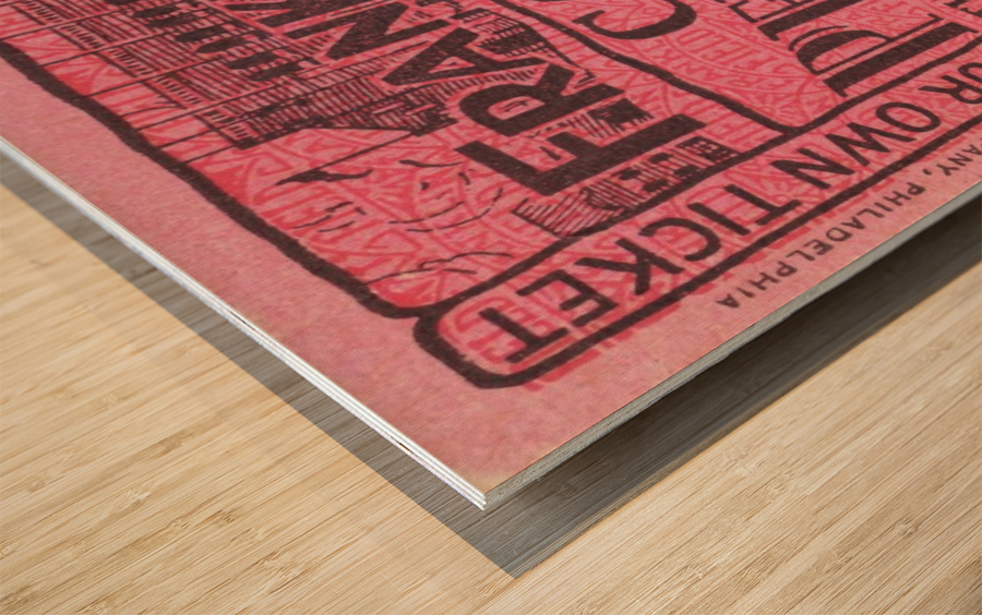1930 Cornell vs. Penn Wood print