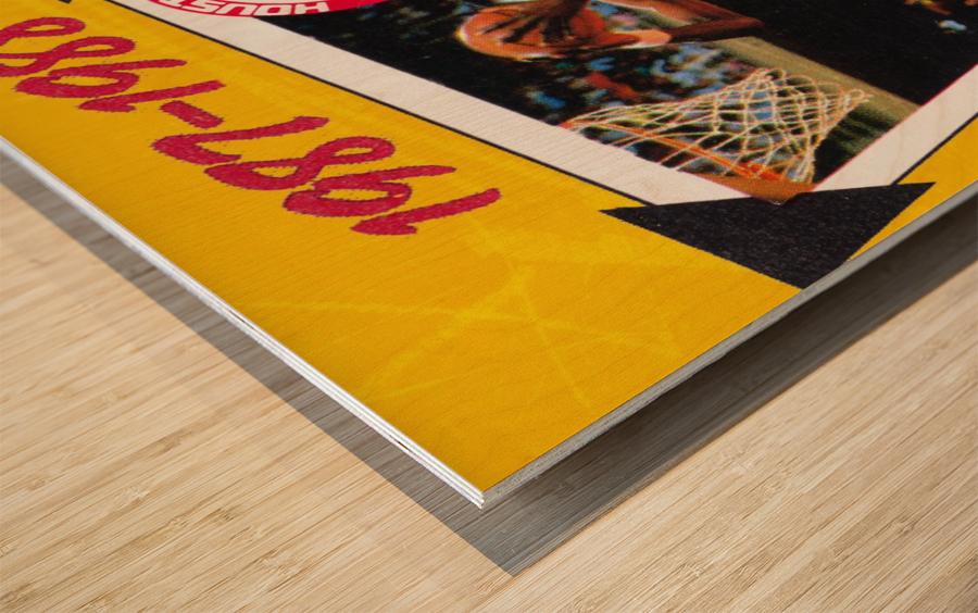 1987 Hakeem Olajuwon Houston Rockets Wood print