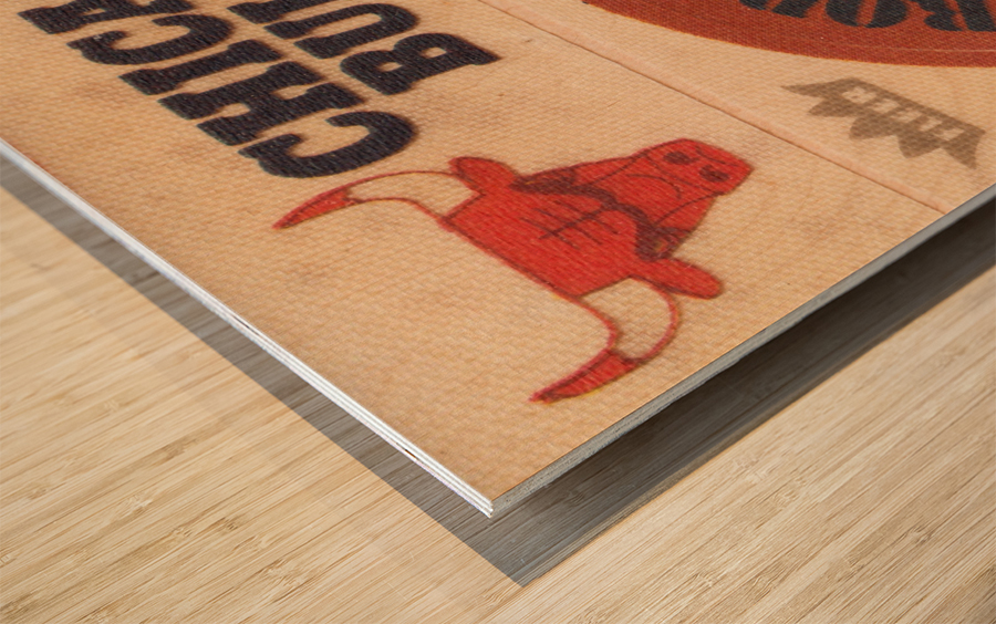 1974 Chicago Bulls Fleer Decal Art Wood print