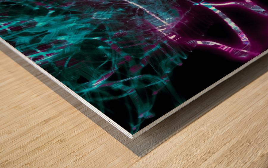 VERT PURP Wood print