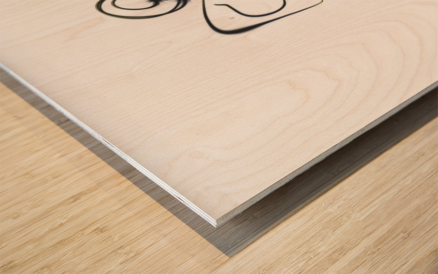 Stick man punch  Wood print