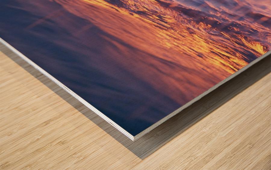 Lake Erie waves 3 Wood print