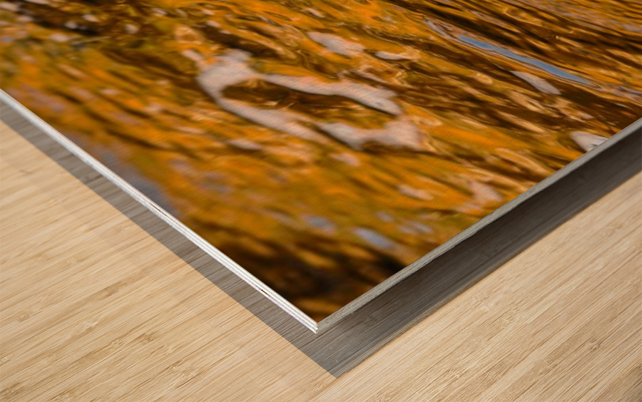 Flowing reflections 4 Wood print