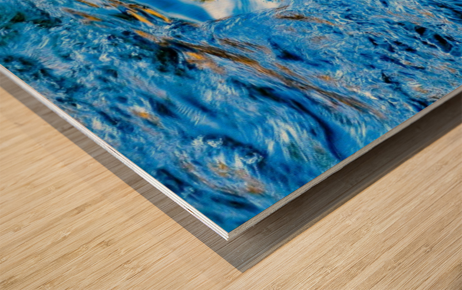 Flowing reflections 1 Wood print
