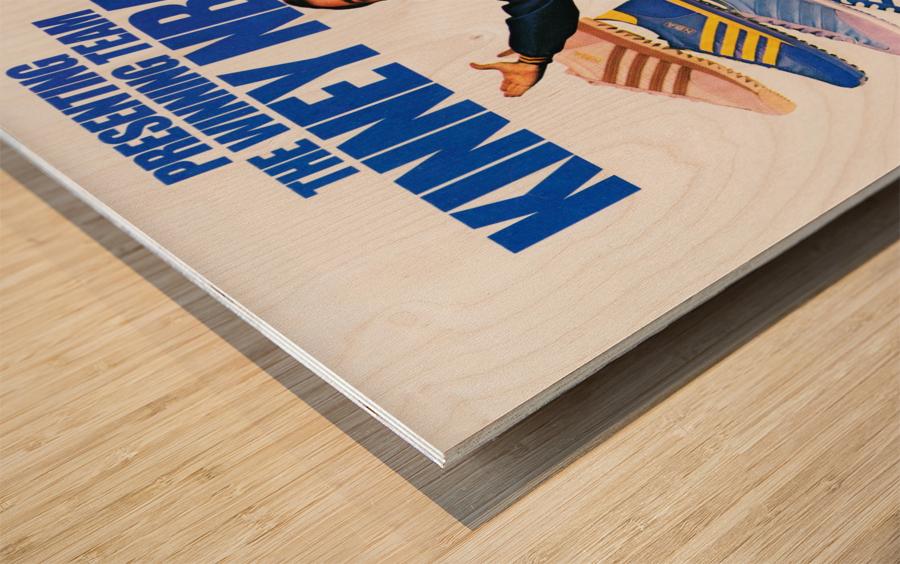 1979 Kinney NBA Shoes Ad Wood print