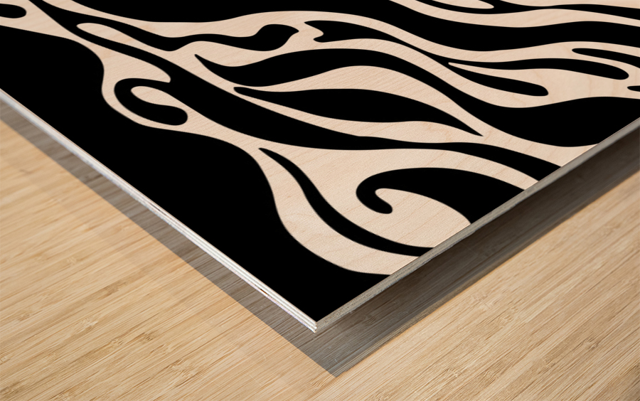 BATTLE Wood print