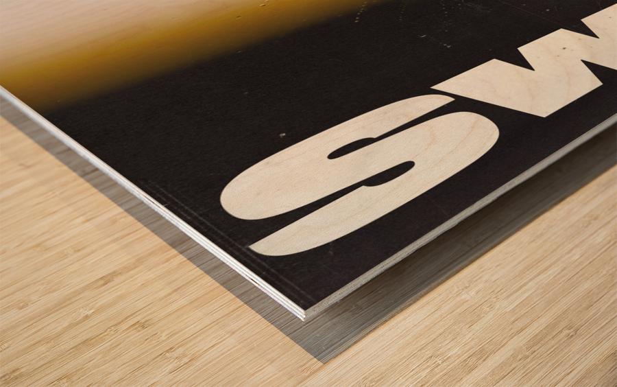 SWIPE Wood print