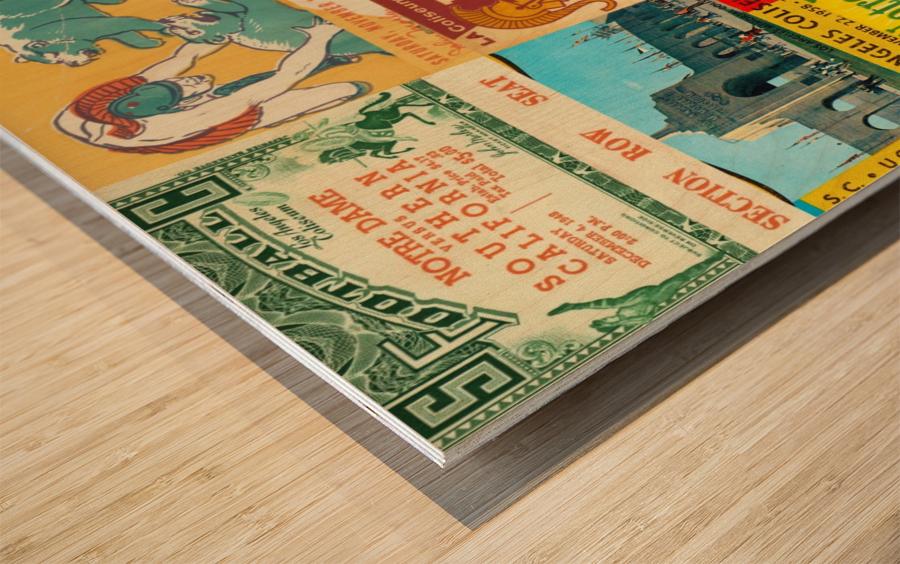 USC Trojans Football Ticket Stub Collage Wood print
