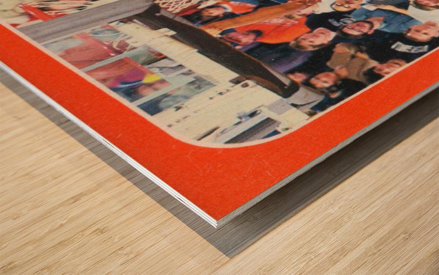 1988 Clemson Tigers Eldon Campbell Wood print