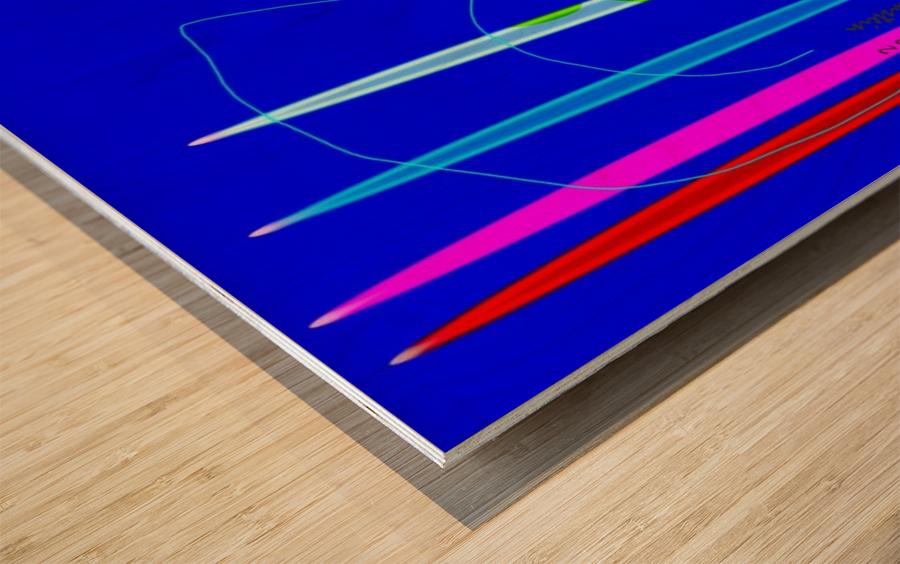 HorizonBlue Wood print