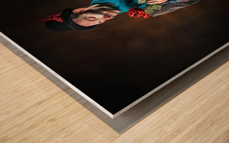 Auguste et rose Wood print