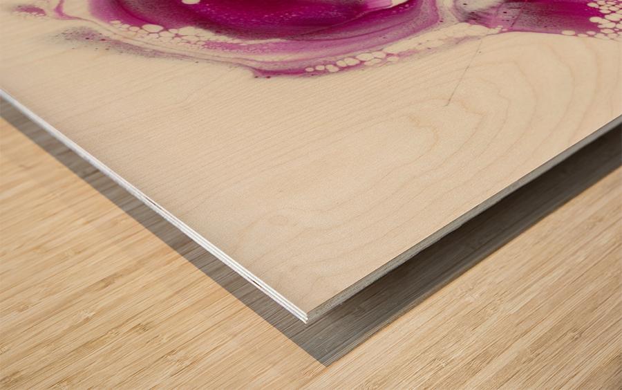 Magenta Sunrise Wood print