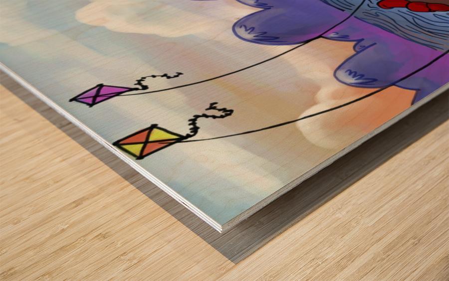 A Dream of Summer - Kites Wood print