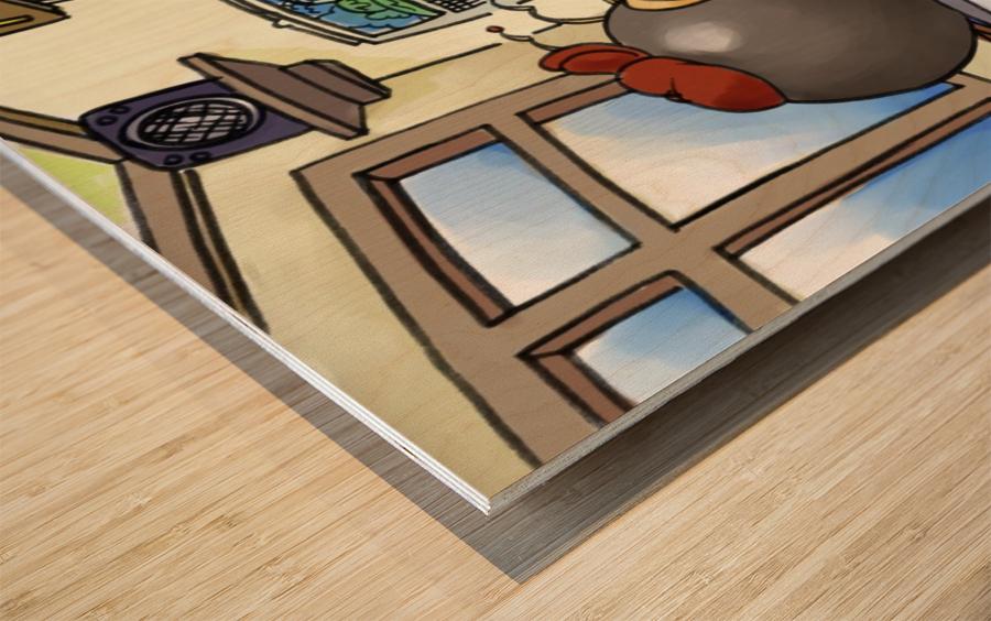 School Days - Teacher - Bugville Critters Wood print