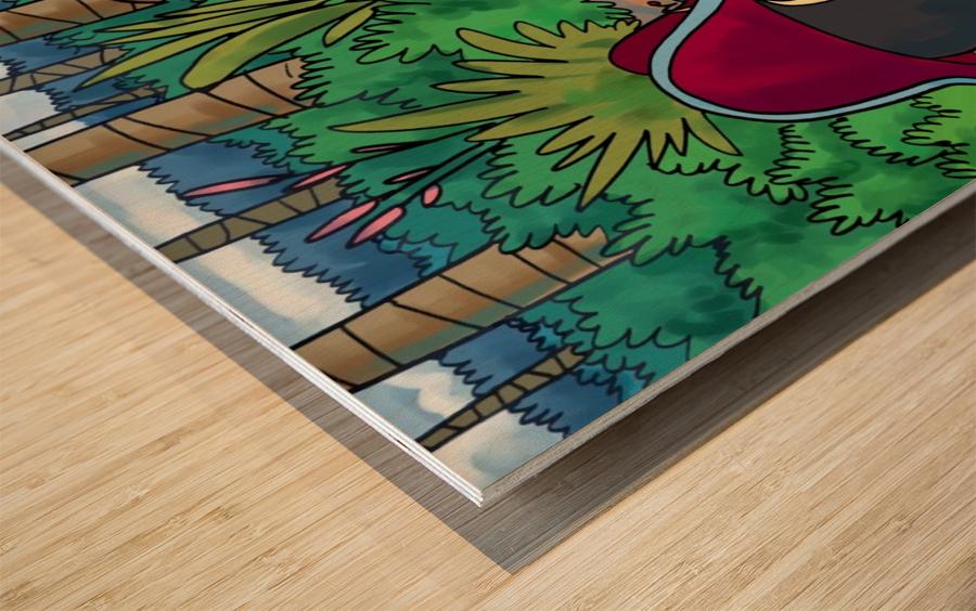 Hidden Treasure - Pirates - Bugville Critters Wood print