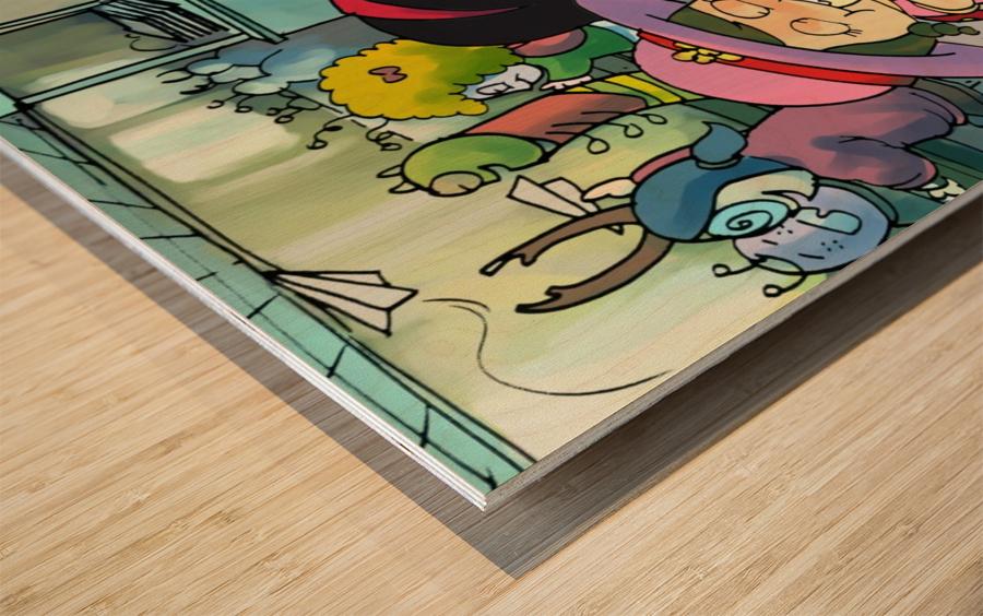Lunch Break - Bugville Critters Wood print