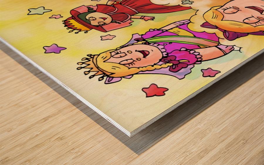 Library Daydreams  Wood print