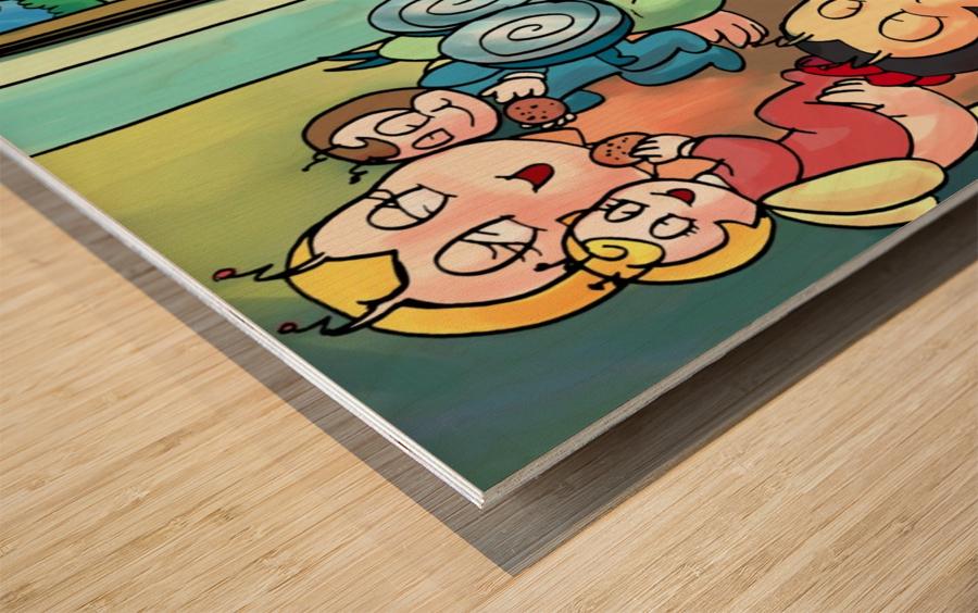 Cookie Break - Bugville Critters Wood print