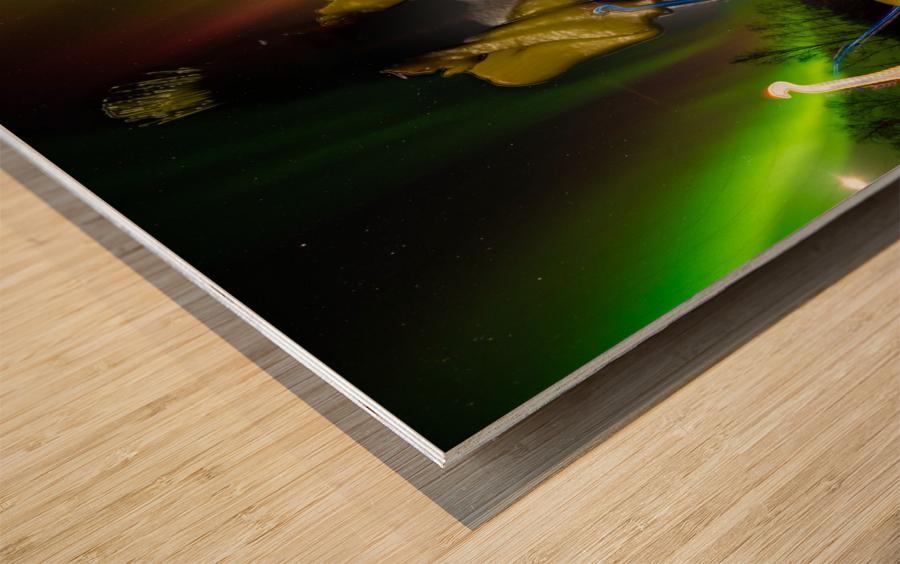 AURORA LANDING Wood print