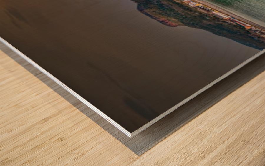 Panorama du quai de Perce Impression sur bois