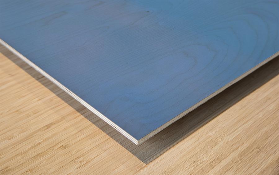 Blue Day Wood print