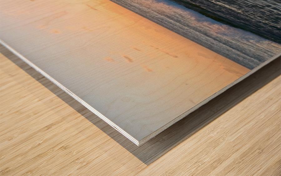 Reflections at the Sea Shore Wood print