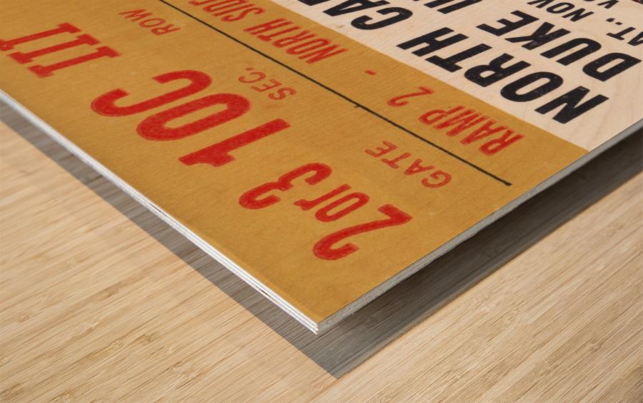 1964 North Carolina vs. Duke Wood print