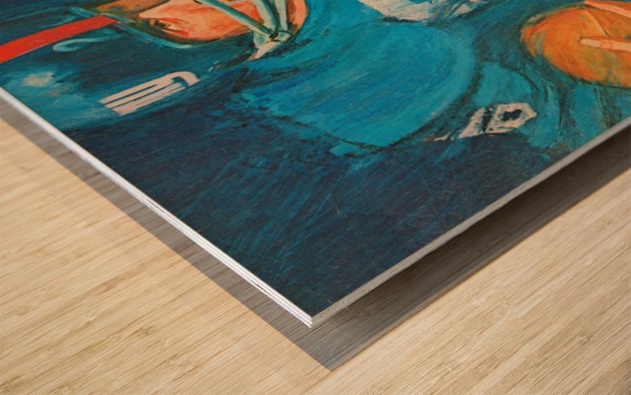 1966 New York Giants Program Cover Art Wood print