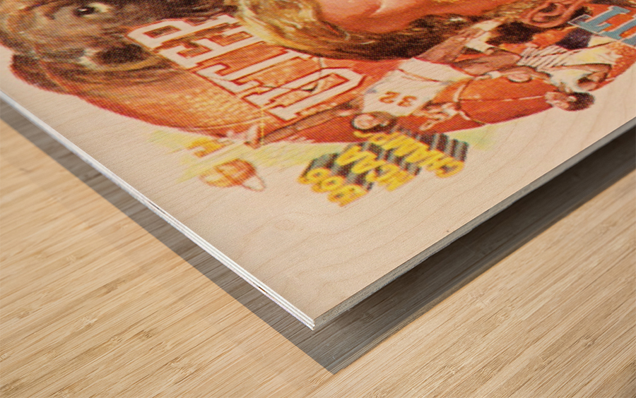 1983 UTEP Basketball Wood print