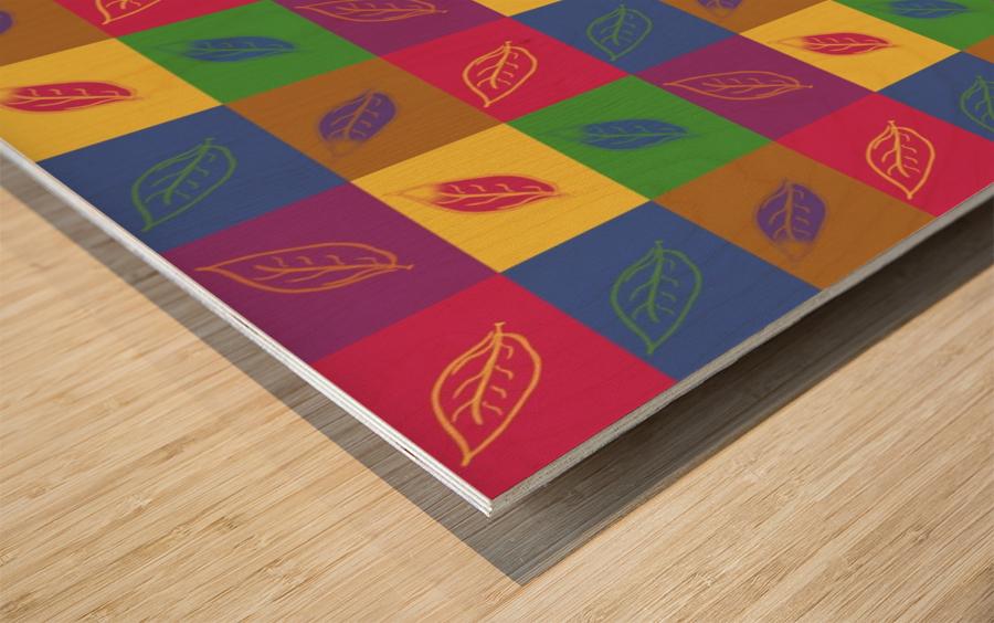 Carreaux  Wood print