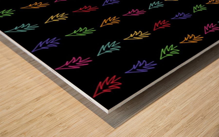 Sapin multicolore  Wood print