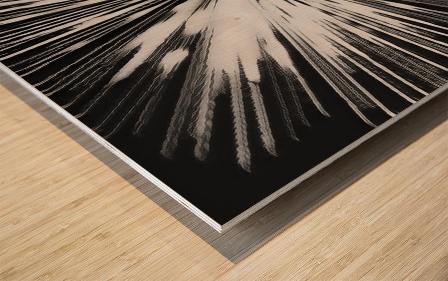 Miracle BNW Wood print