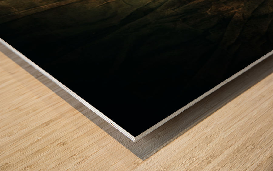 Montagne et Zen Wood print