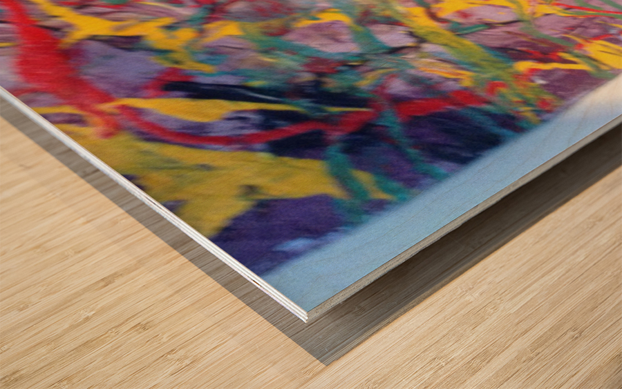Vibrations Wood print