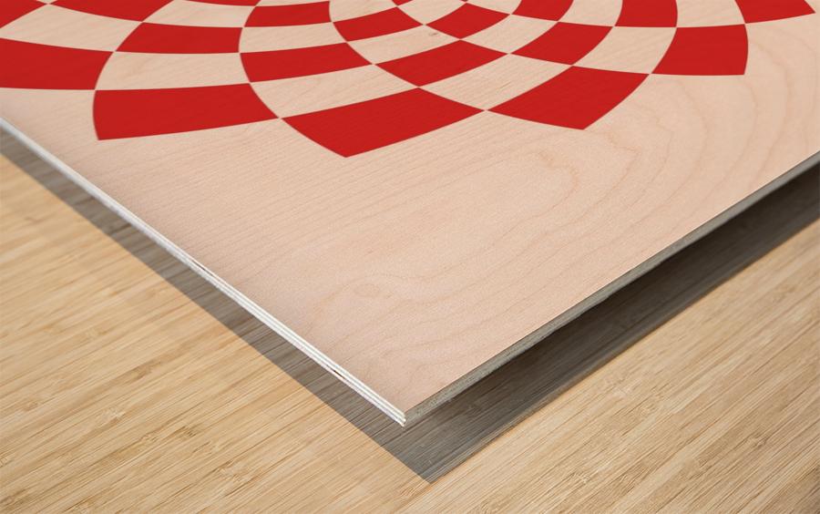 Red flake  Wood print