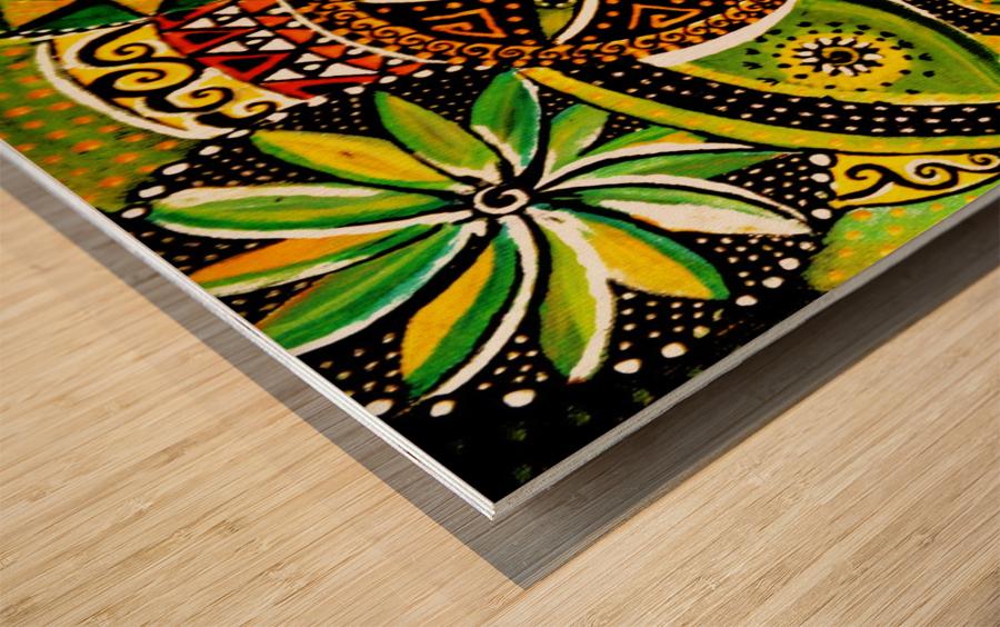 Pensee psyche   Wood print