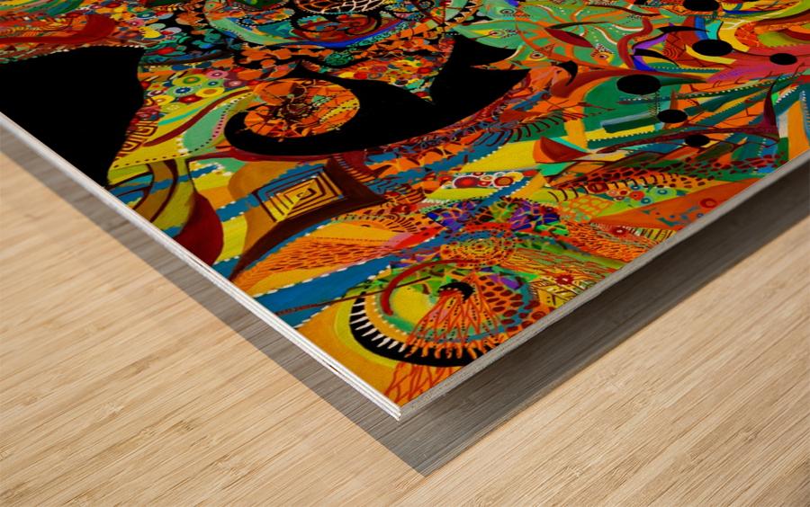 Vortex Wood print
