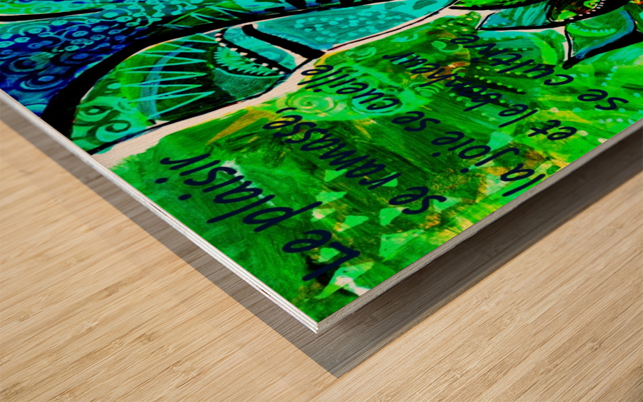 Bonheur Wood print