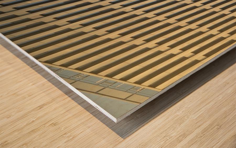 buildings windows  Wood print